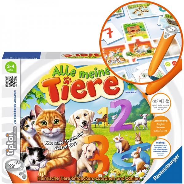 Tiptoi Puzzle-Spiel Alle meine Tiere
