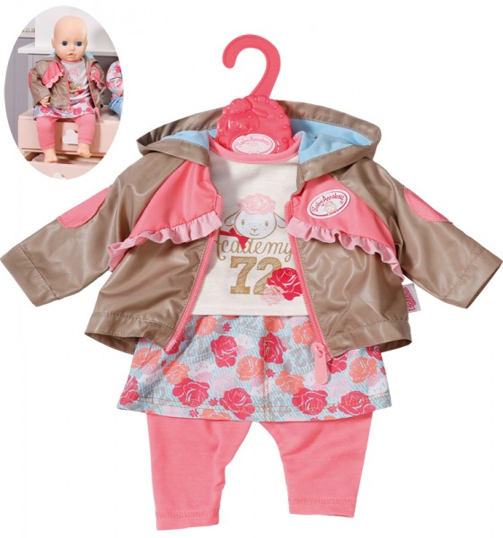 Baby Annabell Travel Jeans 43 cm (Goldbraun-Rosa)