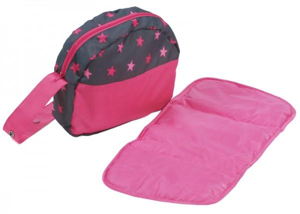 Wickeltasche für Puppenwagen (Sternchen Pink)