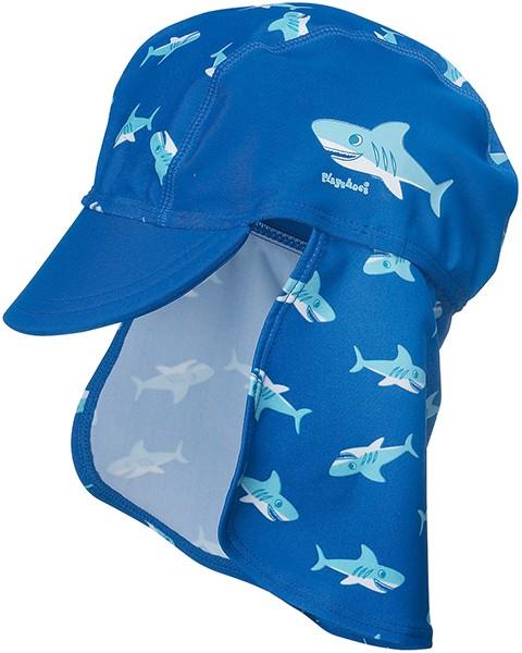 UV-Schutz Mütze Hai 53 cm (Blau)