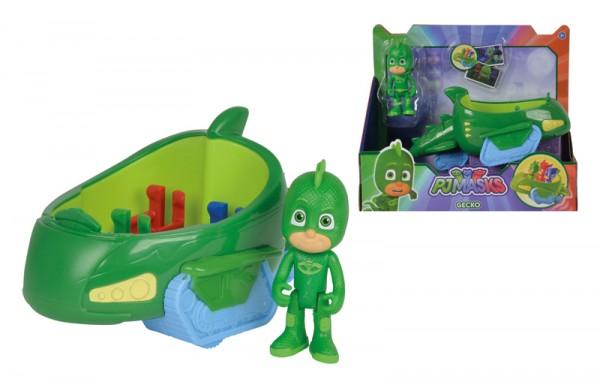 PJ Masks Gecko mit Geckomobil (Grün)