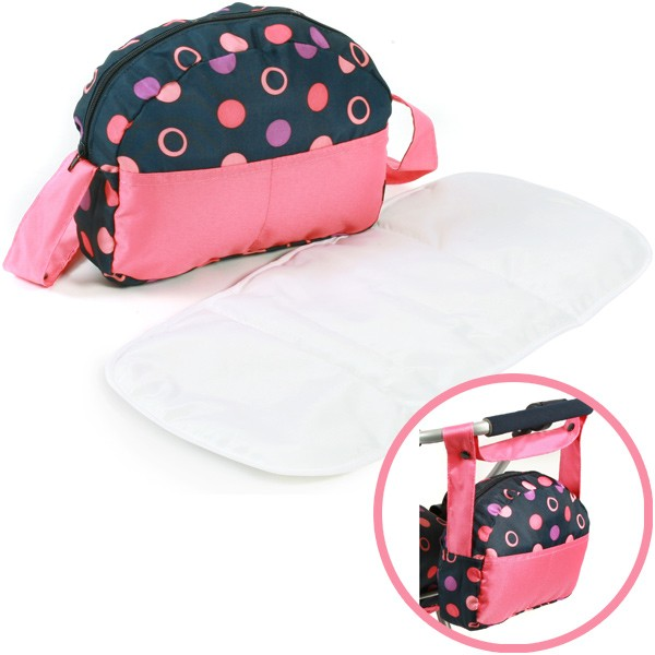 Wickeltasche für Puppenwagen (Corallo)
