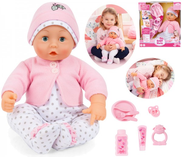 Funktionspuppe Baby Lisa mit 50 Sprachsounds 46 cm (Rosa)