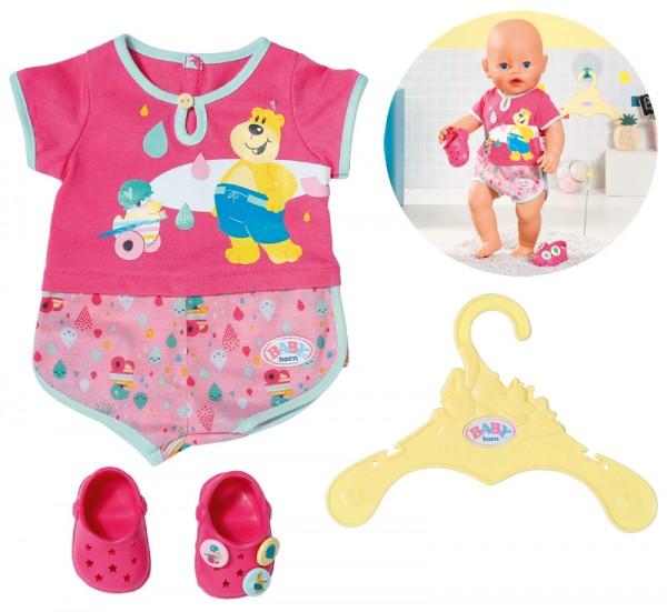 Baby Born Bath Pyjama & Clogs 43 cm (Pink-Rosa)