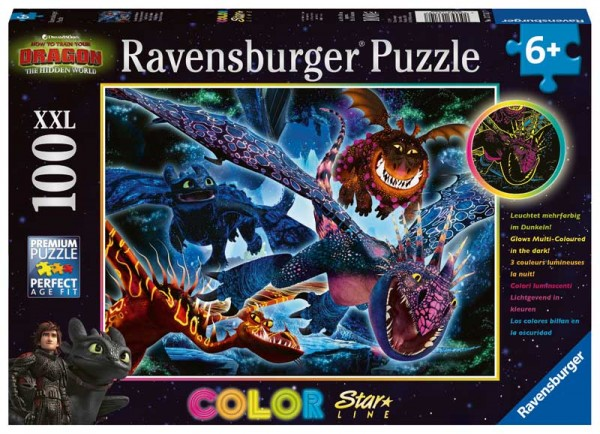 Kinderpuzzle Dragons Leuchtende Dragons
