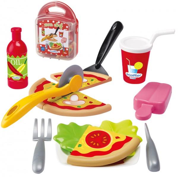 Lunchbox mit Spiellebensmitteln Pizza (Rot)
