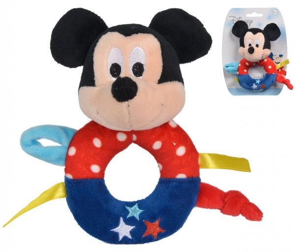 Disney Mickey Maus Baby Rassel (Bunt)