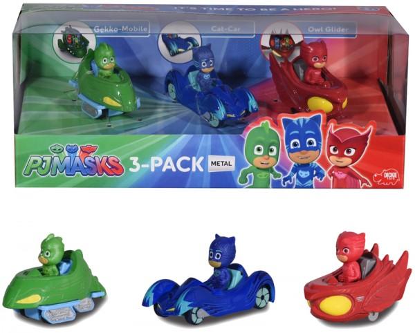PJ Masks 3-Pack Fahrzeugset aus Metall