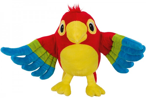 Peggy Diggledey Handpuppe Papagei Pelle (Bunt)
