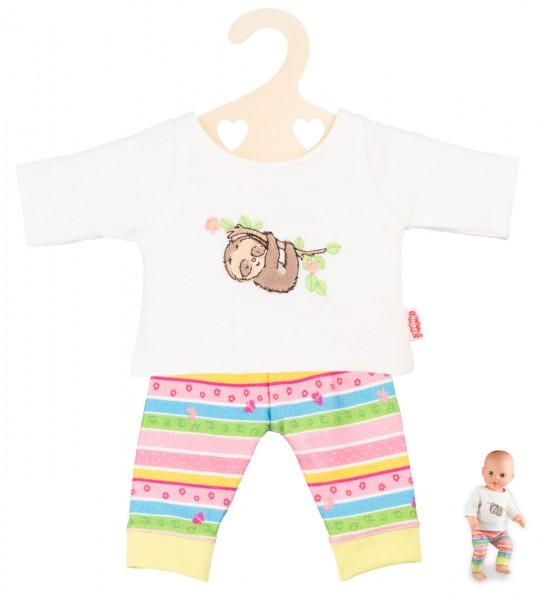 Kleidungsset Pyjama Faultier Flauschi Gr. 28-35 cm