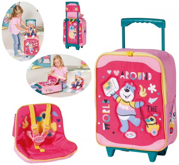 Baby Born Holiday Trolley mit Puppensitz (Pink)