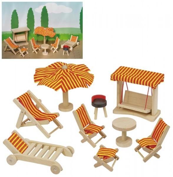 Puppenhausmöbel für den Garten