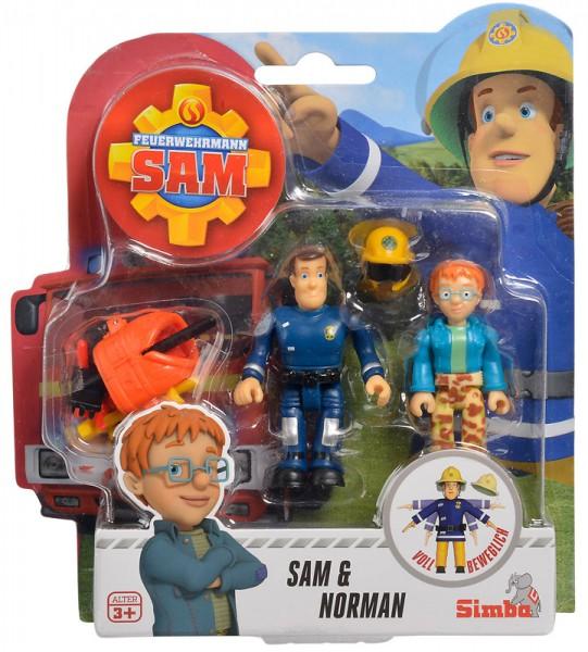 Feuerwehrmann Sam 2er Figuren-Set III Sam und Norman