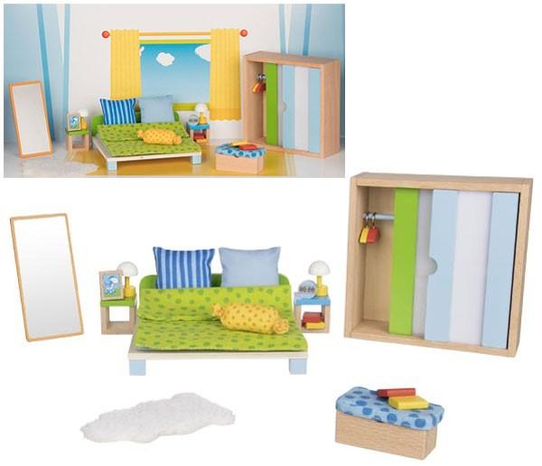 Puppenhausmöbel Modernes Schlafzimmer