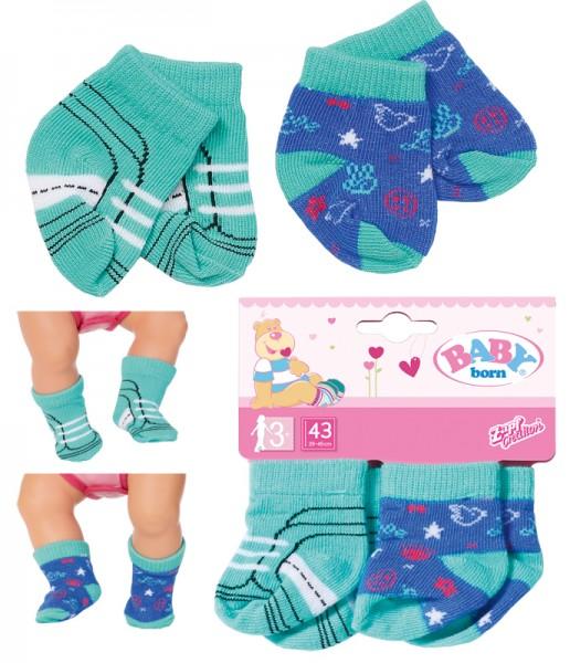 Baby Born Trend Socken 2er Pack 43 cm (Blau-Mint)