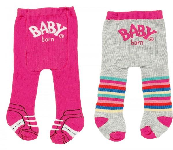 Baby Born Trend Strumpfhose 2er Pack 43 cm (Pink-Bunt)