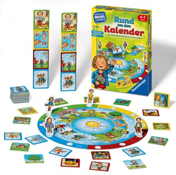 Kinderspiel Rund um den Kalender