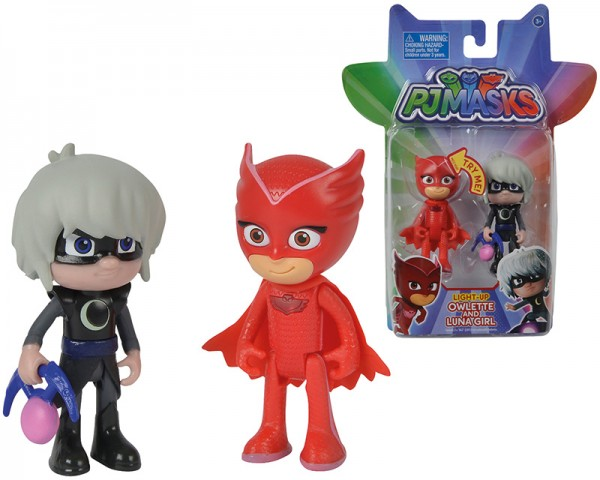 PJ Masks Figuren Set 2er Pack Eulette und Luna Girl mit Licht