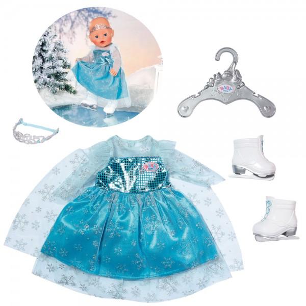 Baby Born Eisprinzessin Set mit Schlittschuhen 43 cm (Iceblau)