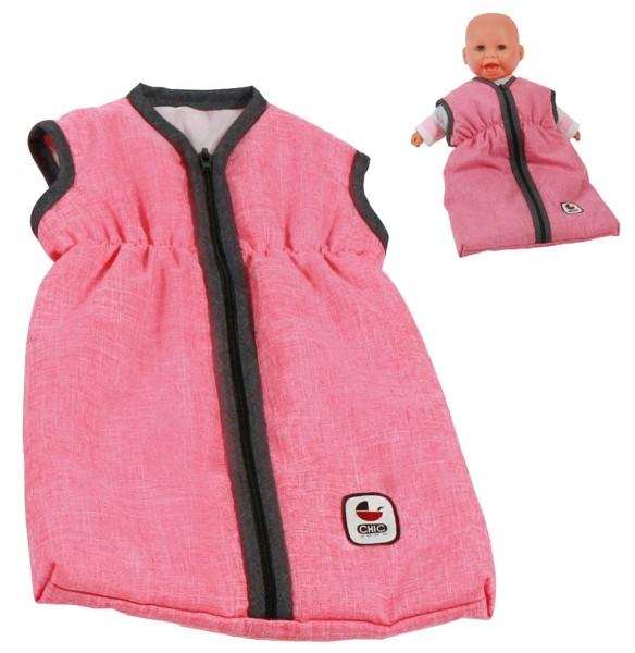 Puppenschlafsack (Melange Anthrazit-Pink)