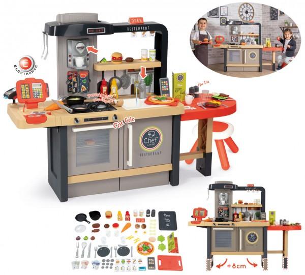 Chef Corner Restaurant mit Küche, Ess- und Kassenbereich