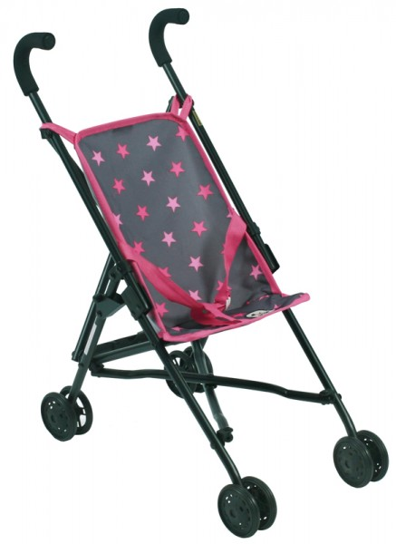 Puppenbuggy Roma (Sternchen Pink)