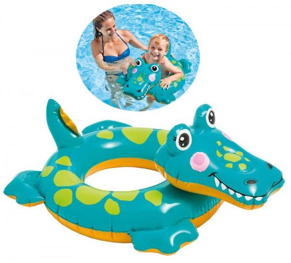 Schwimmreifen mit Tierkopf Krokodil (Grün)