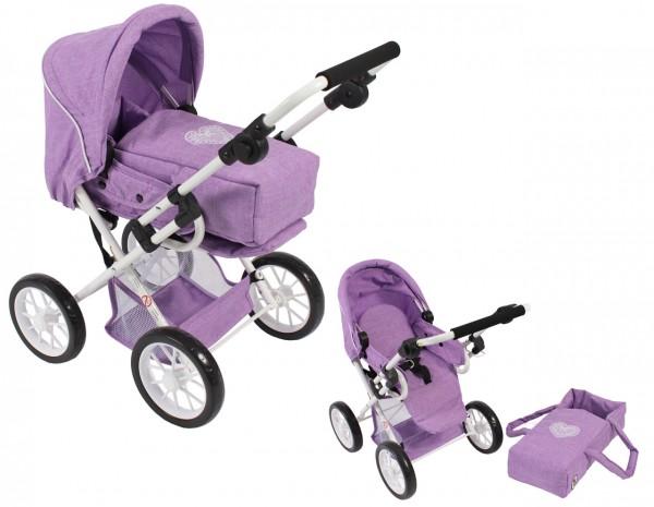 Puppenwagen Leni (Melange Flieder)