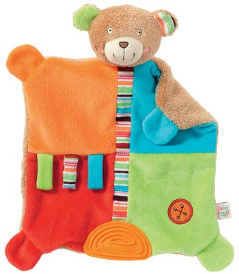 Oskar Activity Schmusetuch Teddy mit Softbeisser (Bunt)