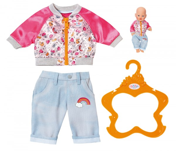 Baby Born Freizeit Outfit 43 cm (Hellblau)