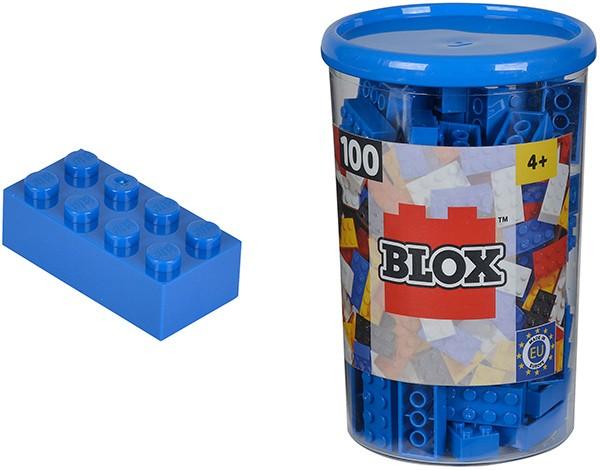 100 Blox Steine in Dose (Blau)