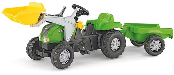 RollyKid X Traktor mit Lader und Anhänger (Grün)