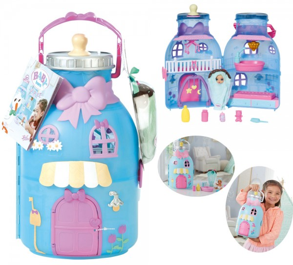 Baby Born Surprise Baby Bottle House (Hellblau-Rosa)
