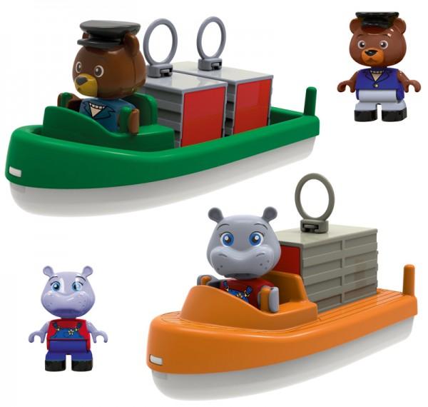 Container- und Transport-Boot für Wasserbahn