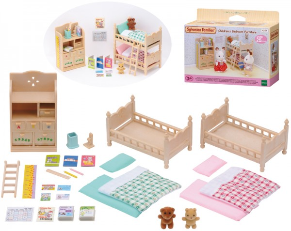 Sylvanian Families Kinderzimmer-Möbel mit Etagenbett