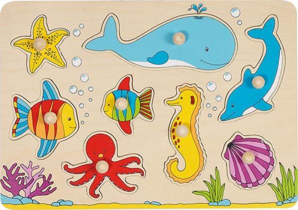 Steckpuzzle Unterwasserwelt mit 8 Tieren