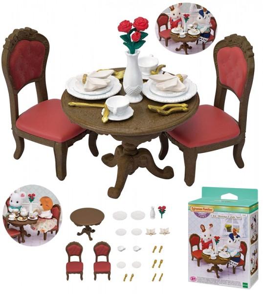 Sylvanian Families Town Series Gourmet Esstisch Set