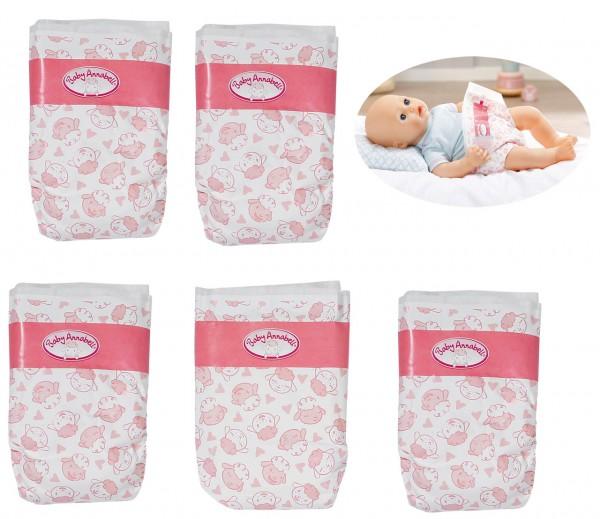 Baby Annabell großes Windelpaket 10er Pack Gr. 43 (Weiß-Rosa)
