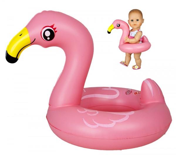 Flamingo-Schwimmring Ella für Puppe 35 - 46 cm