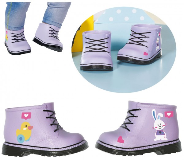 Baby Born Schuhe 43 cm Boots (Lila)