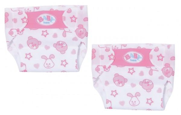 Baby Born Little Windel 2er-Set 36 cm (Weiß-Pink)