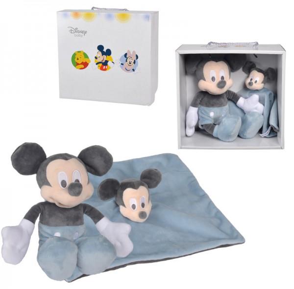 Disney Mickey Maus Baby Geschenkset (Tonal Blau)
