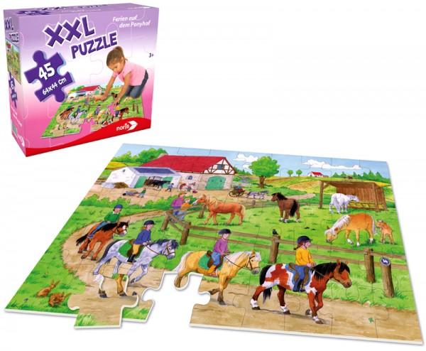 XXL Bodenpuzzle Ferien auf dem Ponyhof mit 45 großen Teilen