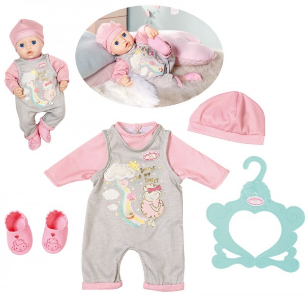 Baby Annabell Süßes Baby Outfit 43 cm (Grau-Rosa)