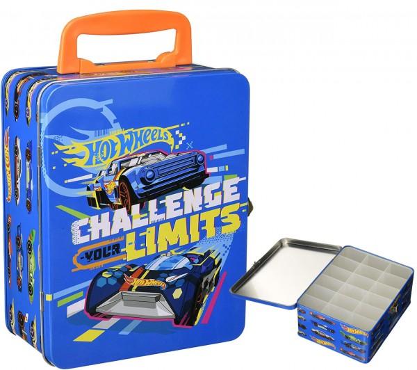 Hot Wheels Autosammelkoffer aus Metall (Blau)