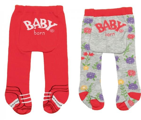 Baby Born Trend Strumpfhose 2er Pack 43 cm (Rot-Grau)