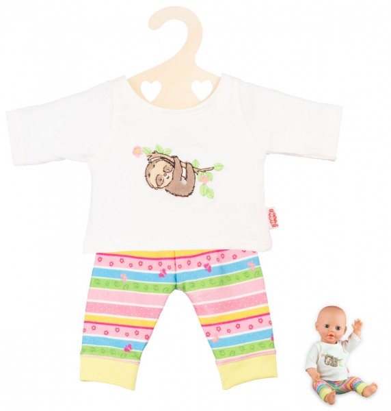 Kleidungsset Pyjama Faultier Flauschi Gr. 35-45 cm