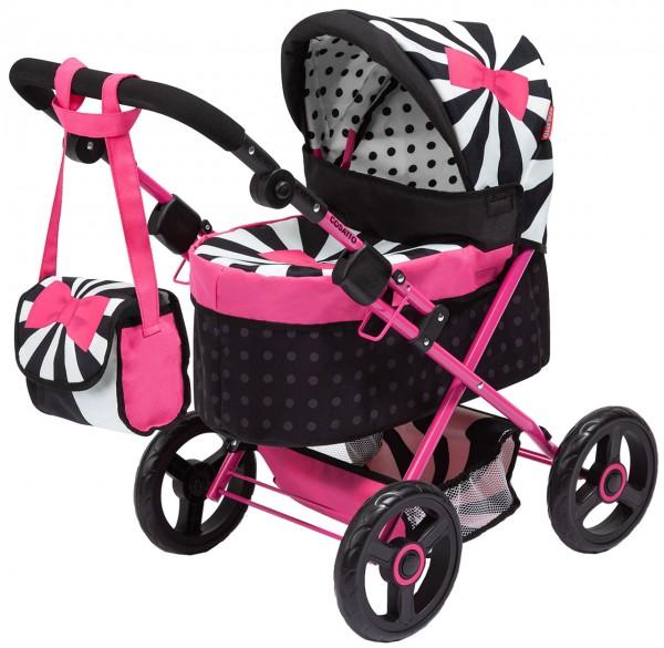 Mein erster Puppenwagen Trendy Cosatto (Schwarz-Weiß-Pink)