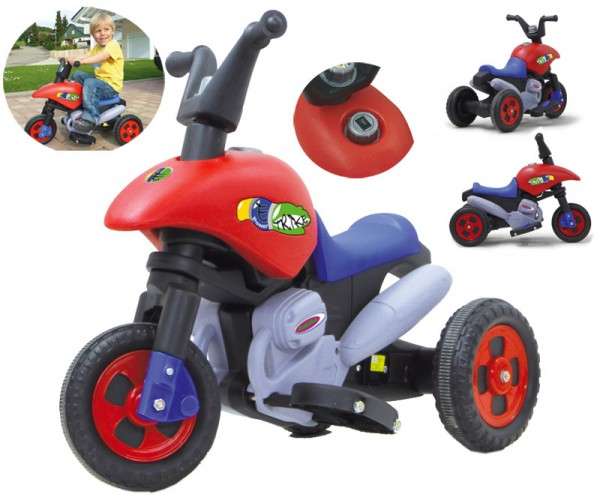 Ride-on E-Trike mit Richtungsschalter (Rot-Blau)