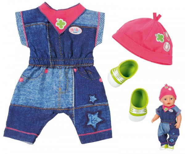 Baby Born Deluxe Jeans Kollektion Overall 43 cm